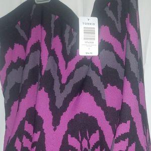 NWT TORRID 3x purple knit skater skirt